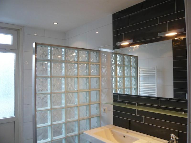 Glazen bouwstenen gewolkt blank 19x19x8cm (5st/ds)