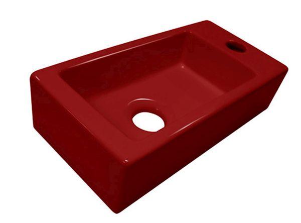 Best design mini block fontein rood rechts 36x18x9cm