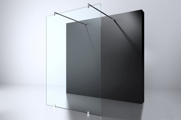 Best design erico free standing vrijstaande wand 120x200cm nano glas 8mm