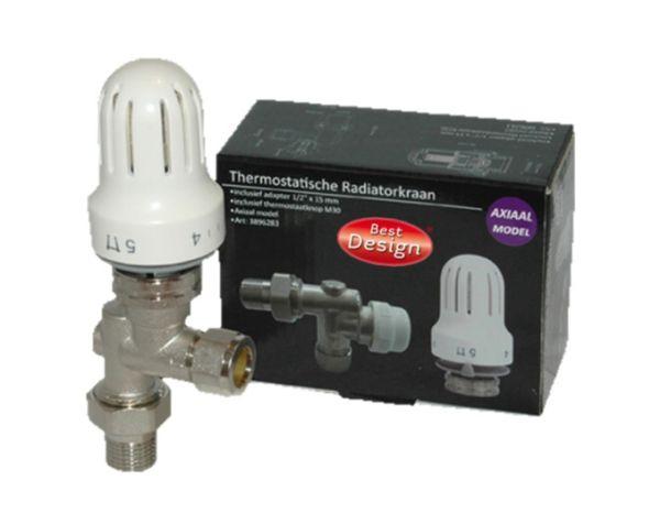 Best design thermostatische radiatorkraan set axiaal 1 2''x15mm