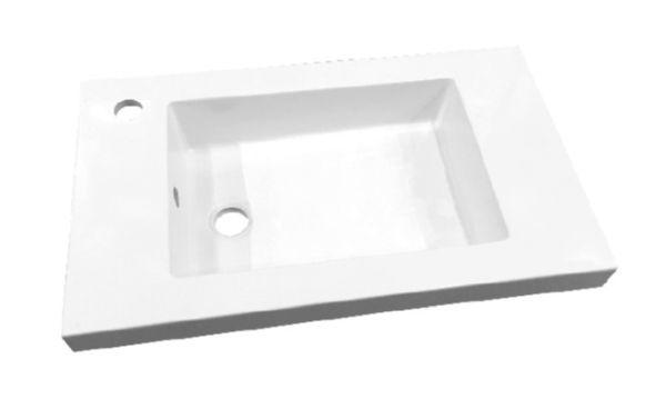 Best design slim wastafel voor meubel 60 cm (ondiep) 35 cm met kraan gat