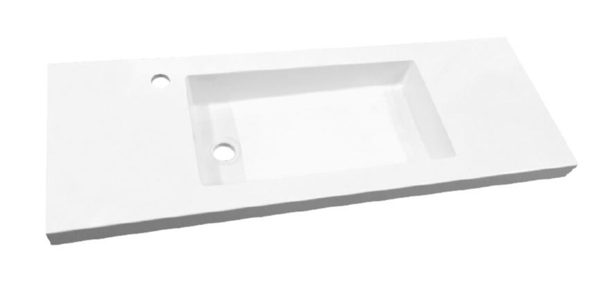 Best design slim wastafel voor meubel 80 cm (ondiep) 35 cm met kraan gat