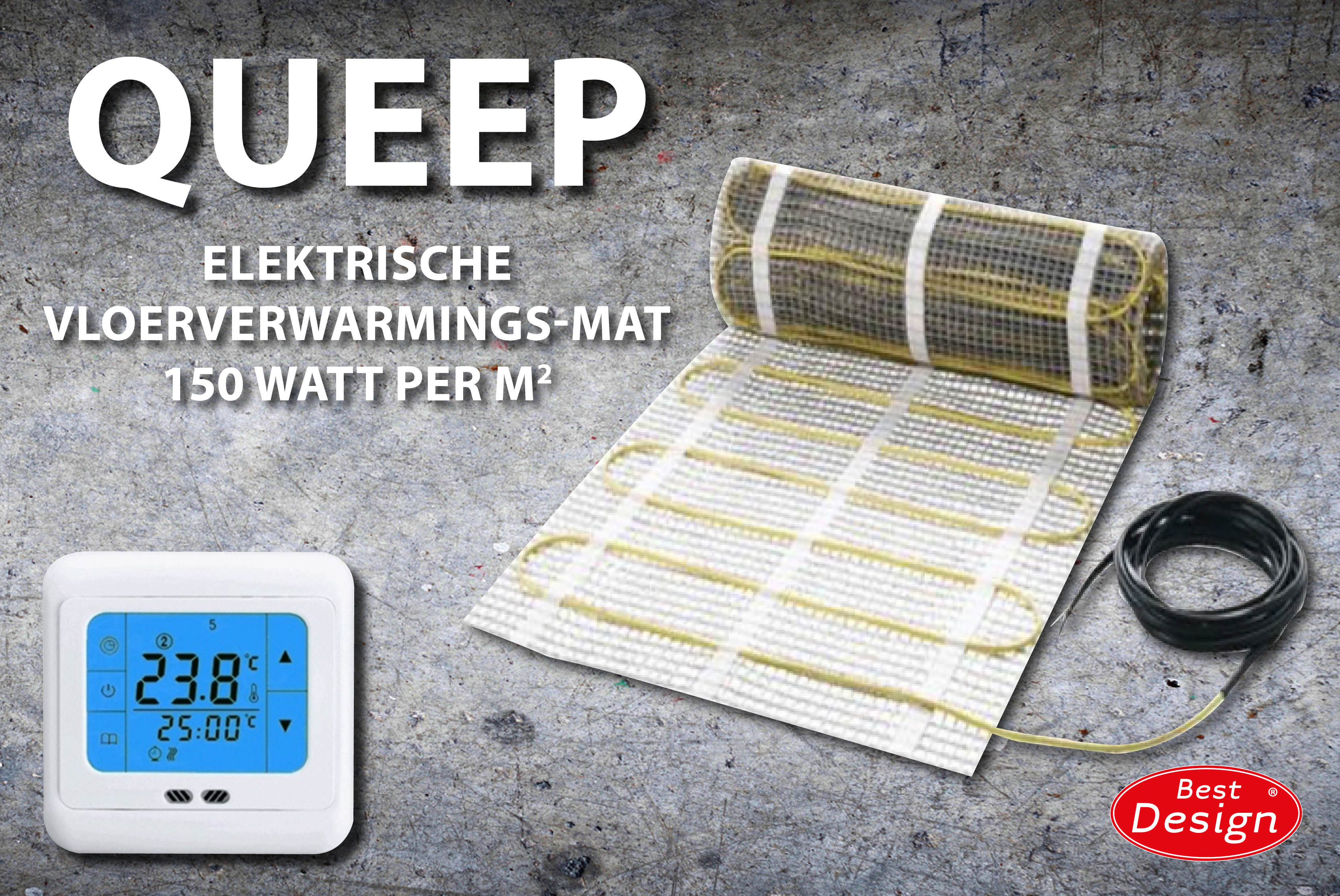 Foto van Best-design elektrische vloerverwarming 8.0m2
