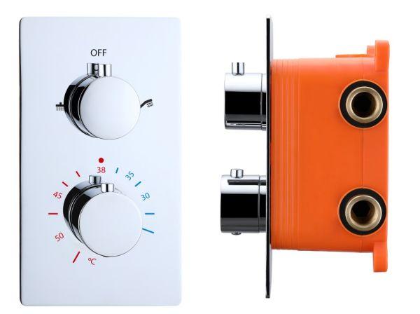 Best design verona inbouwthermostaat inb.box 2 weg 1 2 ronde knoppen