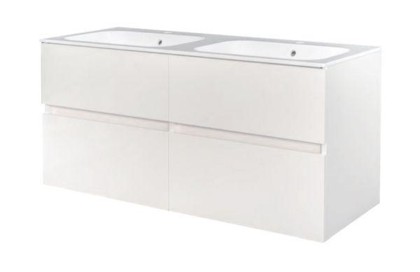 Best design bora greeploos meubel onderkast 4 laden zonder wastafel 120 cm glans wit