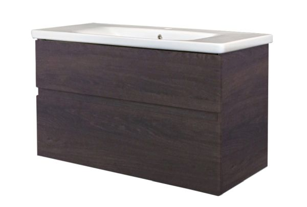 Best design quick greeploos meubel onderkast wastafel 100 cm dark brown