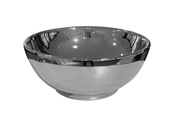 Best design ancona opbouw waskom glans zilver diameter =38cm h=16cm