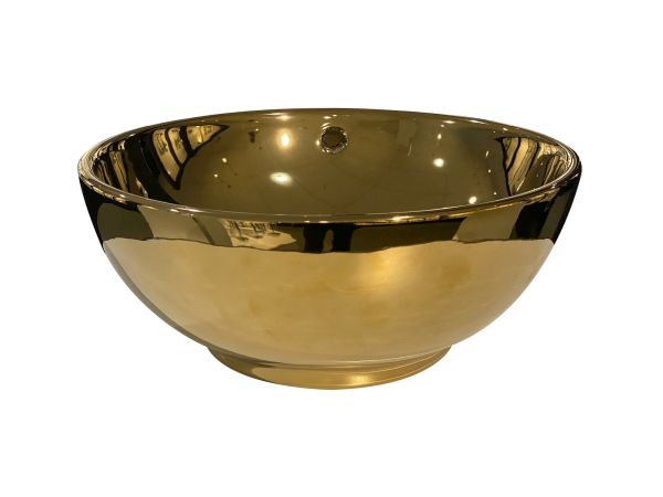 Best design ancona opbouw waskom glans goud diameter =38cm h=16cm