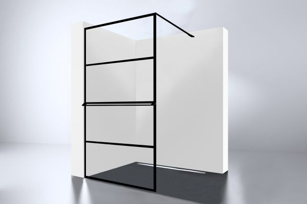 Best design noire 900 screen inloopdouche walk in 900x2000x10mm