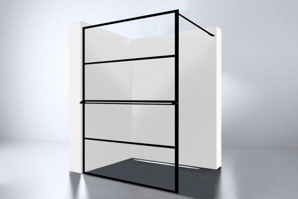 Best design noire 1400 screen inloopdouche walk in 1400x2000x10mm