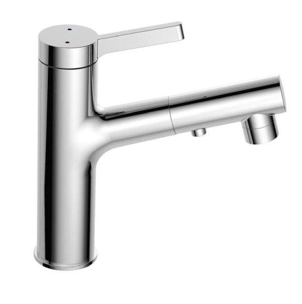 Best design asproli wastafelmengkraan met uittrekbare sproeiuitloop chroom