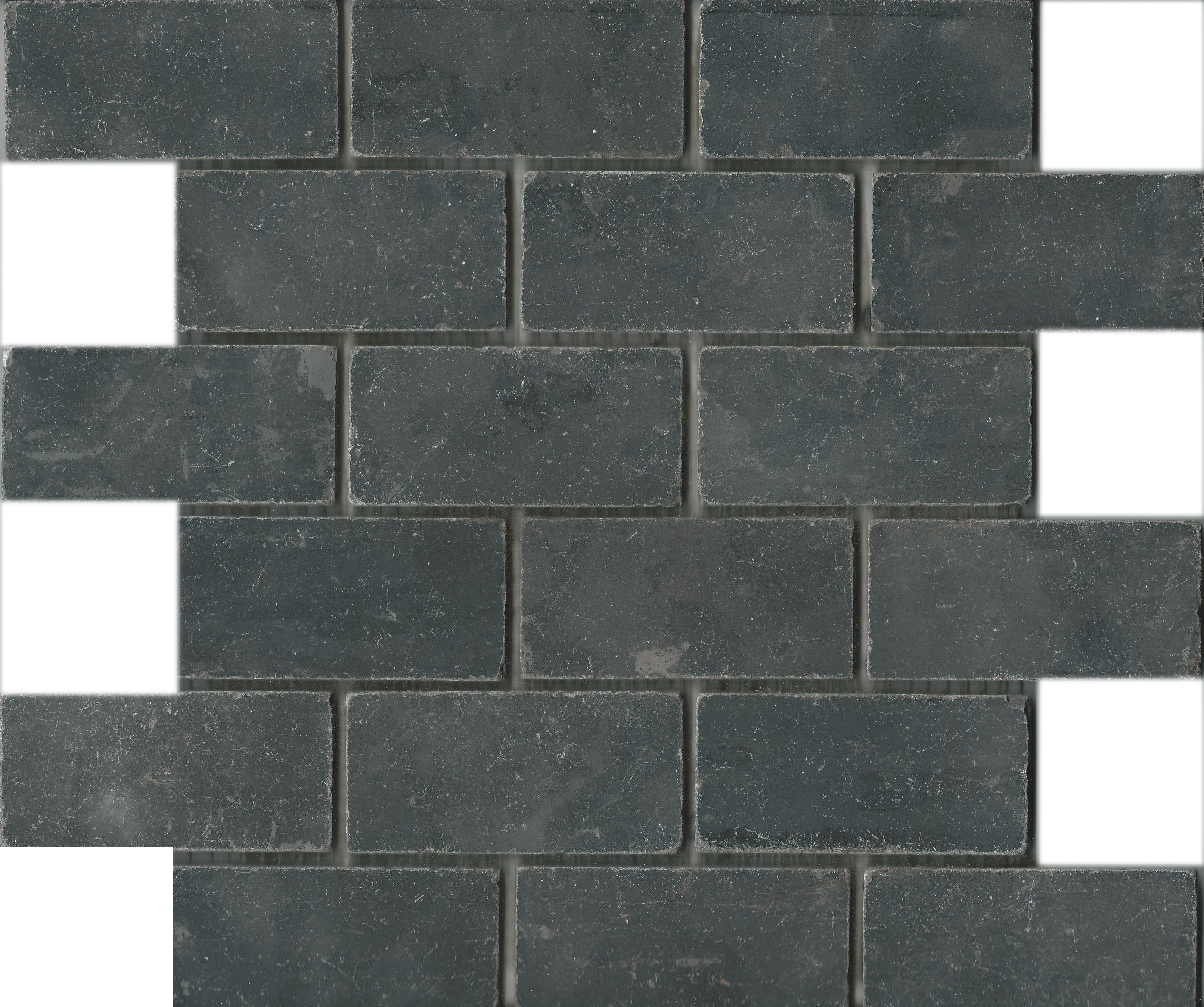 Natuursteen limestone dark mozaiek 5x10x1 € 7.00 bij Max4home