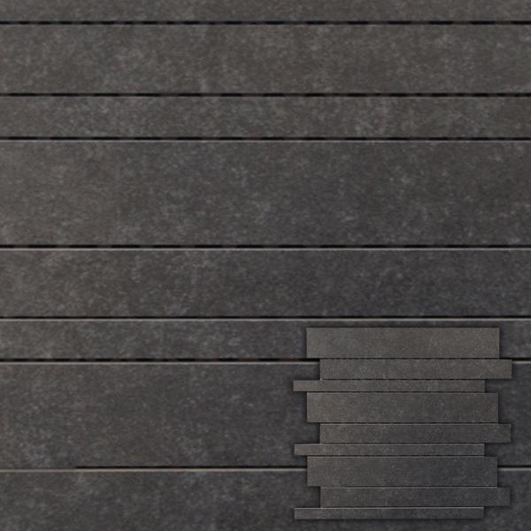 20170412&220441_Tegels Badkamer Gamma ~ Mozaiek ardennes interlock black 30×30 ? 13 00 bij Max4home