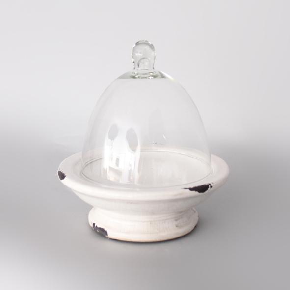 Keramische glazen stolp 21,5x21,5x22,5cm