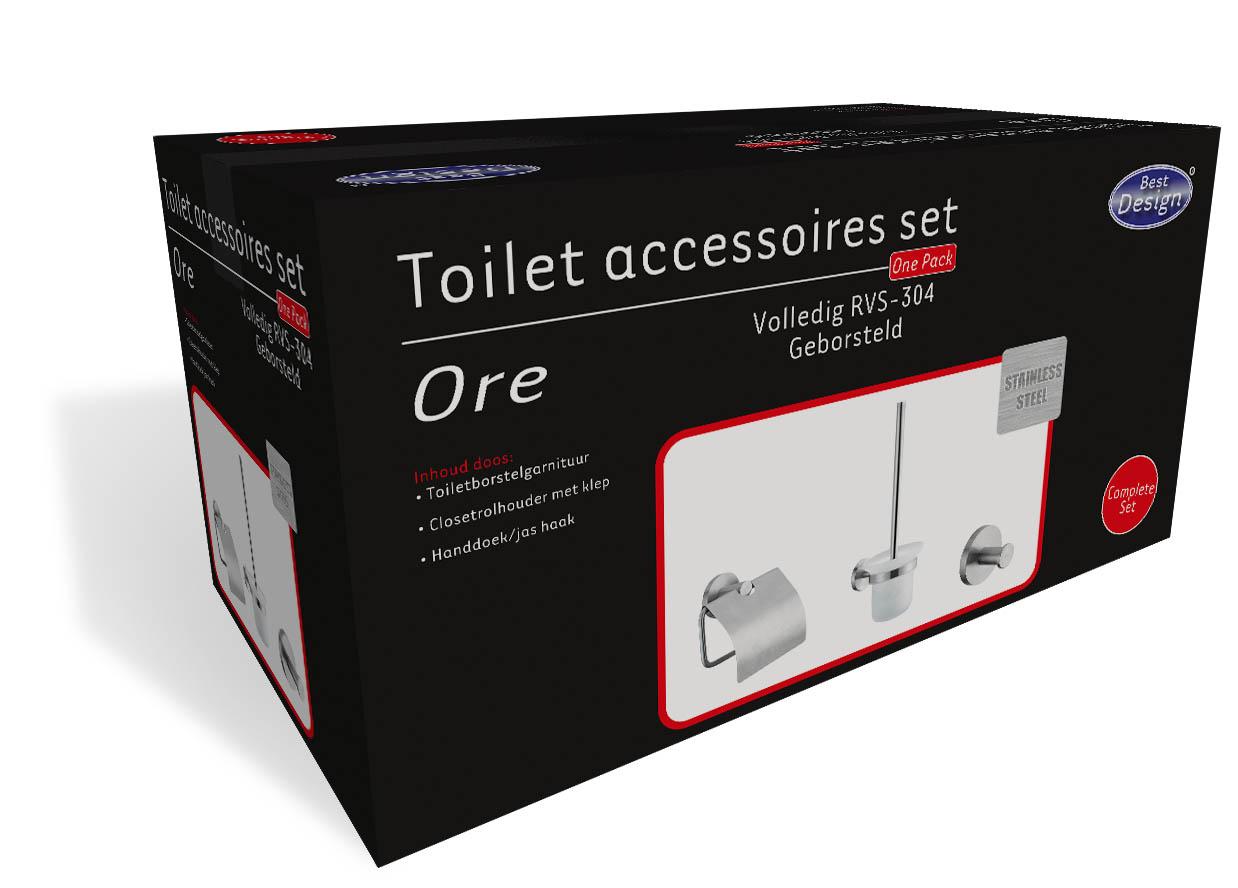 Best Design RVS Toilet accessoires set Ore