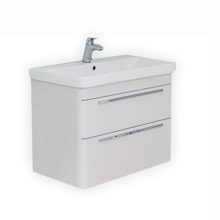 Badkamer Sanitair Gouda ~   60 cm bestdesign ? 612 00 de onderkast met wastafel moby glanswit 60