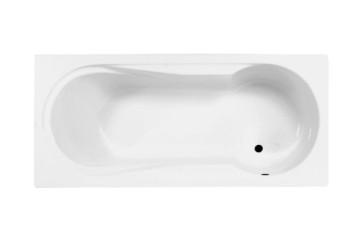 """Best-design """"bob"""" bad met douchegedeelte 180x80x42cm zonder poten"""
