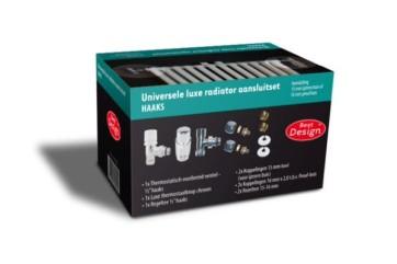 """Best-design """"haaks"""" universele luxe radiator aansluitset (ds-groen)"""