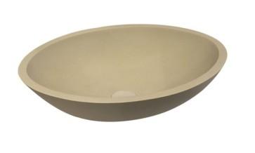 "Best-design ""epona-sand"" opbouw waskom ""just-solid"" 52 cm"