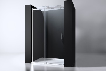"Best-design ""erico"" nisdeur schuif verstelbaar 118-120cm h=200cm nano glas 8mm"