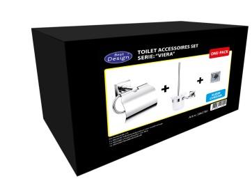 """Best-design one-pack toilet accessoires set """"viera"""""""