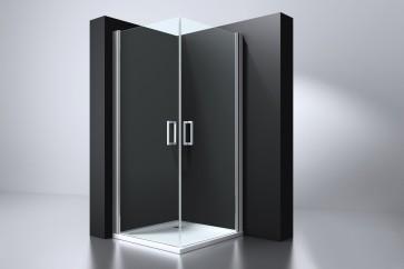 "Best-design ""erico"" vierkante cabine met 2 deuren 90x90x192cm nano glas 6mm"