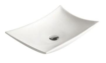 """Best-design """"raaf"""" opbouw wastafel m/kraangat 56x37x10,5cm"""