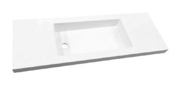 """Best-design """"slim"""" wastafel voor meubel 80cm (ondiep) 35 cm zonder kraan gat"""