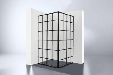 """Best-design """"black-corner"""" douche hoekinstap 890x890x2100x4mm"""