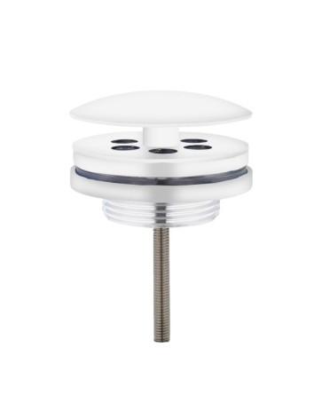 "Best-design ""white"" low fontein afvoer plug 5/4"" mat-wit"