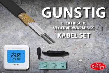 "Best-design ""gunstig"" vloerverwarmings kabel set 40 mtr 790 watt"