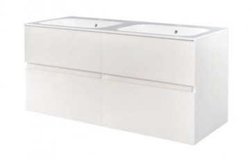 "Best-design ""bora-greeploos"" meubel onderkast 4 laden zonder wastafel 120 cm glans-wit"