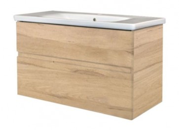 "Best-design ""quick-greeploos"" meubel onderkast + wastafel 100 cm oceanic-a"