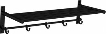 """Best-design """"clips-black"""" wand handdoekrek """"nero"""" mat-zwart"""