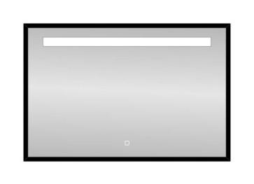 "Best-design nero ""black-miracle"" led spiegel b=100 x h=80cm"
