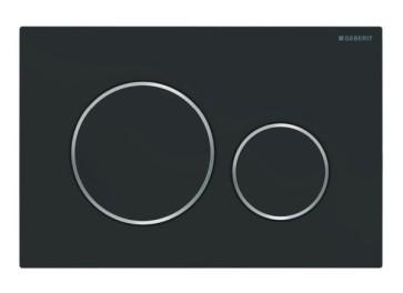 Geberit bedieningsplaat sigma-20 type: 115.882.141 mat-zwart / chroom