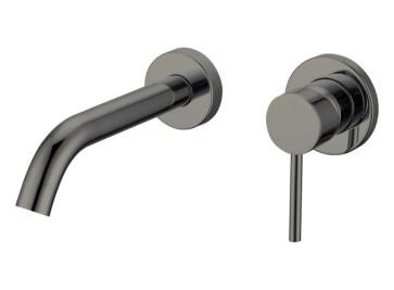 """Best-design """"moya"""" inbouw-wandmengkraan uitl=20cm gunmetal"""