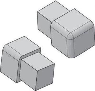 Tegelstrip edp100.94 3w-hoekje per set van 4 stuks