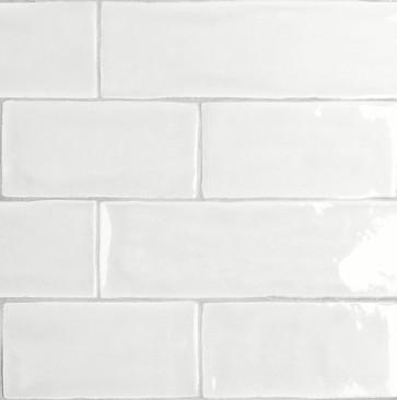 Tegels mayolica white 7,5x30 cm