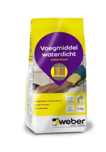 Voegmiddel weber finish antraciet 4 kg