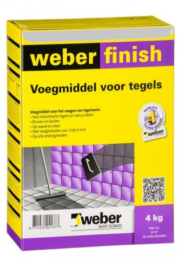 Weber wd finish perfect lichtgrijs 4 kg