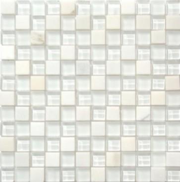 Mozaiek mos 23mm bianco puro 2,3x2,3x0,8