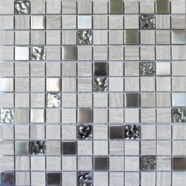 Mozaiek mos 23mm london metal 2,3x2,3x0,8
