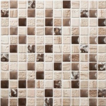 Tegels mosaico petra 16 beige bruin 30x30 cm