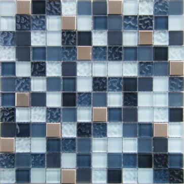 Mozaiek delicioso mirror grey 2,3x2,3x0,8