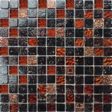 Mozaiek bonito bo.002 dark brown 2,3x2,3x0,8