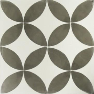 Tegels kashba circeldekor grijs 20x20x1,5