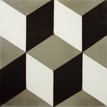 Tegels kashba 3 dimensionaal decor grijs 20x20x1,5