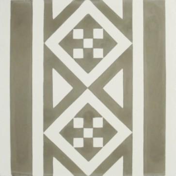 Tegels kashba randdecor grijs 20x20x1,5