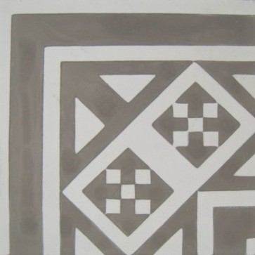 Tegels kashba hoekdecor grijs 20x20x1,5